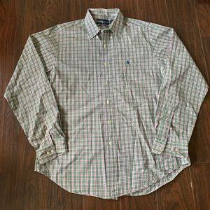 Polo Ralph Lauren Mens Button Down Plaid shirt L